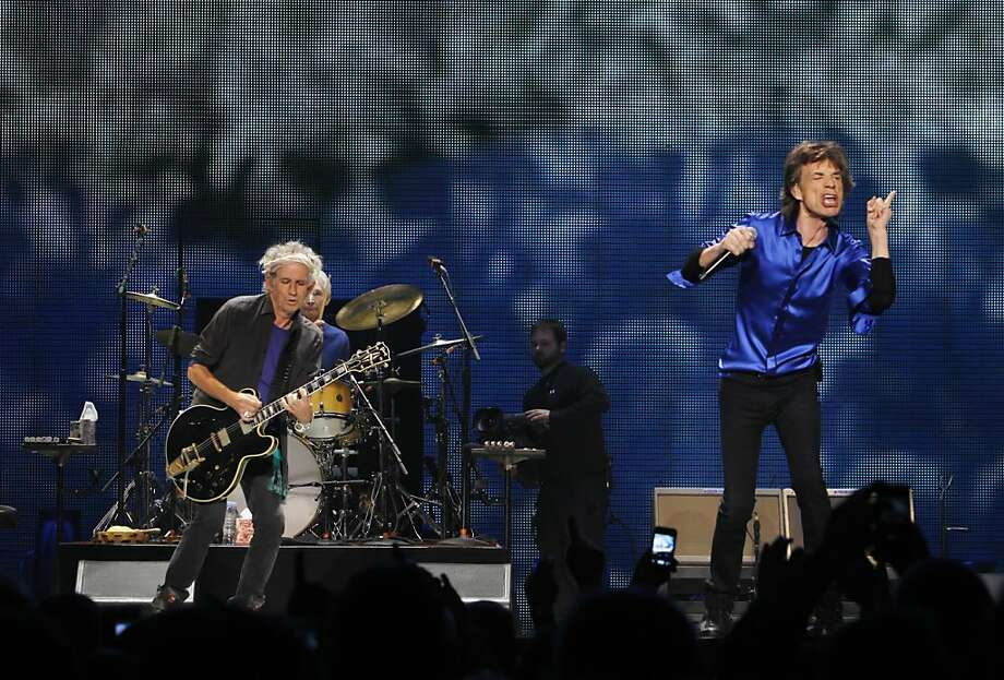 The Rolling Stones perform on stage at the Oracle Arena in Oakland, Calif., on Sunday, May 5, 2013, as part of their 50th anniversary tour. Photo: Carlos Avila Gonzalez, The Chronicle