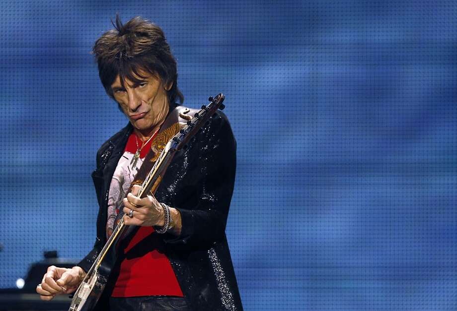 Ron Wood of the Rolling Stones performs on stage on Sunday. The Rolling Stones played the Oracle Arena in Oakland, Calif., on Sunday, May 5, 2013, as part of their 50th anniversary tour. Photo: Carlos Avila Gonzalez, The Chronicle