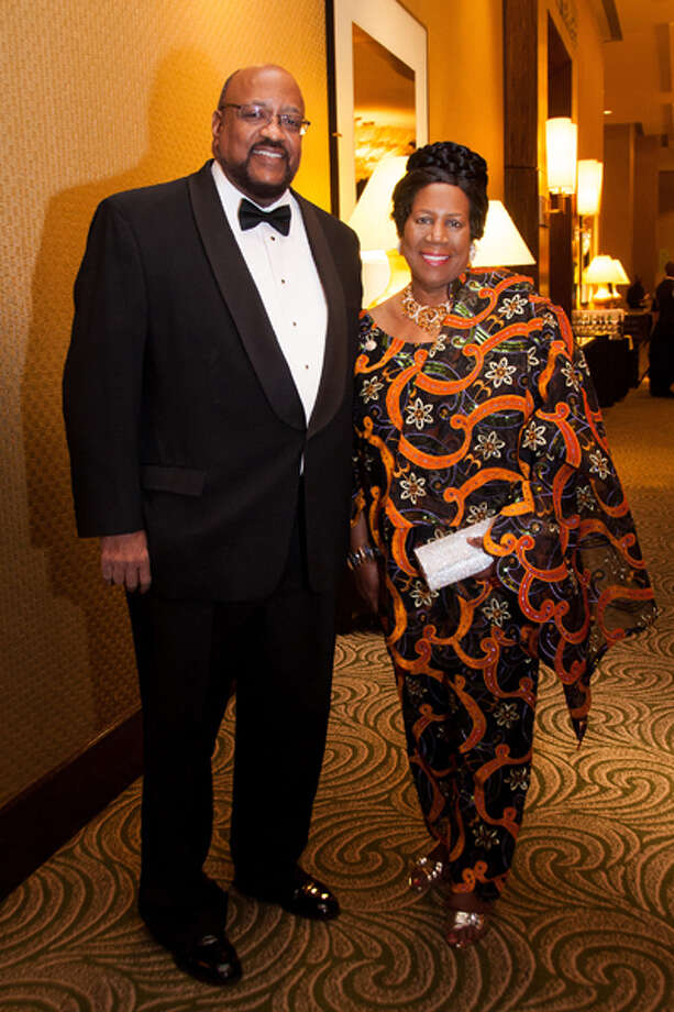 RECOGNIZED: Elwyn Lee and honoree U.S. Rep. Sheila Jackson Lee attended the Houston NAACP 2012 Freedom Fund Gala on Friday, Oct. 26, 2012, at the Hilton Americas. Photo: Grady Carter / New