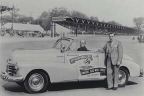 The first Chevrolet to pace the Indy 500 was 1948 Convertible, shown with track officials for that year's race. (05/19/2011)