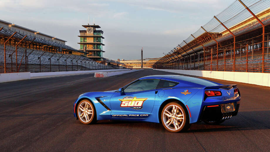 "Chevrolet announces Thursday, May 2, 2013, the all-new, seventh-generation 2014 Corvette Stingray will serve as the Indianapolis 500 Pace Car, leading the field for the 97th running of ""The Greatest Spectacle in Racing,"" on Sunday, May 26, at Indianapolis Motor Speedway. It marks a record 12th time the Corvette has served as the Pace Car. The 2014 Corvette Stingray coupe goes on sale this fall, with a convertible model coming a few months later. Photo: Bret Kelley, Bret Kelley For Chevrolet / © 2013 Bret Kelley and General Motors. This image is protected by copyright but provided for use under a Creative Commons 3.0 License for the purpose of editorial comment only. The use of this image for advertising, marketing, or any other commercial purposes is prohibited. This image can be cropped, but may not be altered in any other way, and each should bear the credit line ""© GM Company."" General Motors makes no representations with respect to the consent of those persons appearing in these photos, or with regard to the use of names, trademarks, trade dress, copyrighted designs or works of art or architecture that are not the intellectual property of General Motors Company."