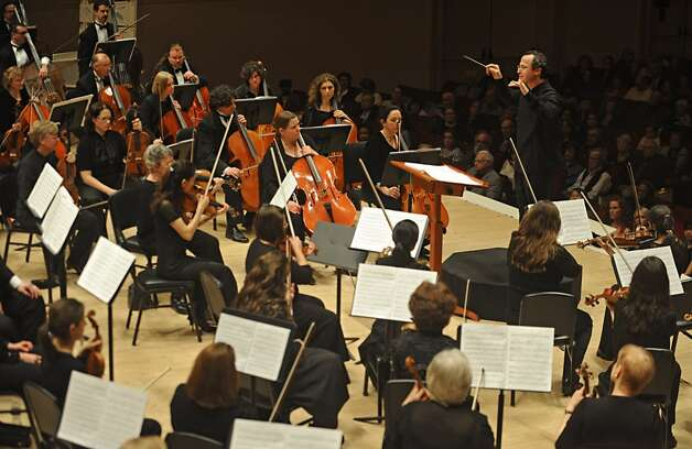 David Alan Miller conducts the Albany Symphony Orchestra during its debut concert at Carnegie Hall in NEW YORK Tuesday May 10, 2011. (Lori Van Buren / Times Union)