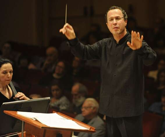 David Alan Miller conducted the Albany Symphony Orchestra during its debut concert at Carnegie Hall in 2011 during the first Spring for Music festival in New York City. The ASO returns to for the third Spring for Music festival on Tuesday, May 7, 2013.  (Lori Van Buren / Times Union)
