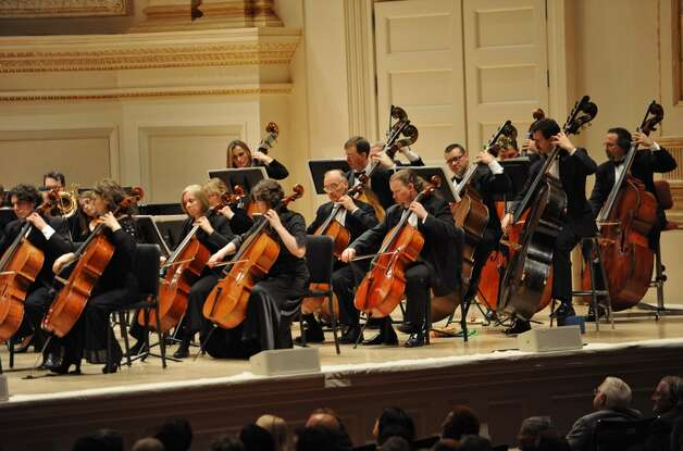 The Albany Symphony Orchestra plays its debut concert at Carnegie Hall in NEW YORK Tuesday May 10, 2011. (Lori Van Buren / Times Union)