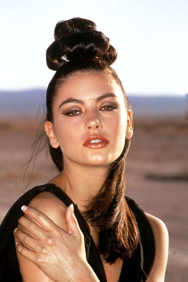Catherine Zeta Jones, in her 1992 music video, ''For All Time.''