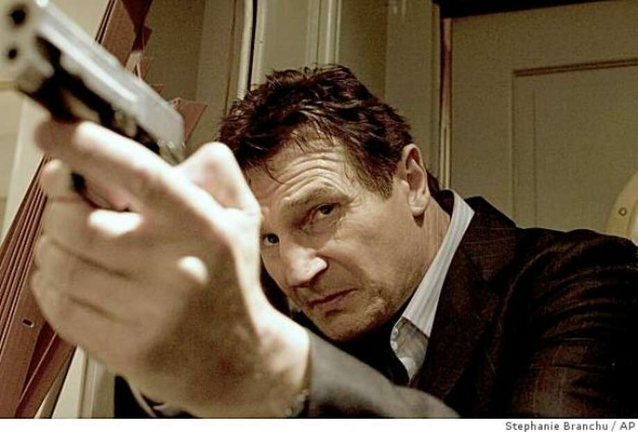 TAKEN -- really just a series of extreme violent situations. Liam Neeson straps electrodes to a guy's testicles, then electrocutes him.
