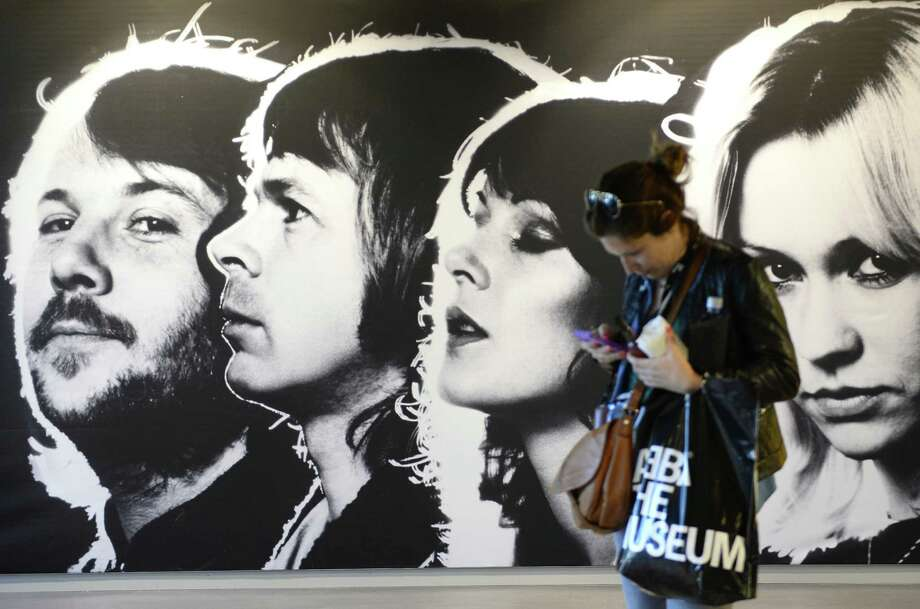 A visitor attends a preview of the ABBA museum in Stockholm on Monday. Photo: Jonathan Nackstrand /AFP / Getty Images