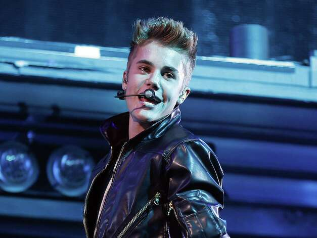 Justin Bieber avoided an altercation with a fan during a concert in Dubai on Sunday. Photo: Associated Press File Photo