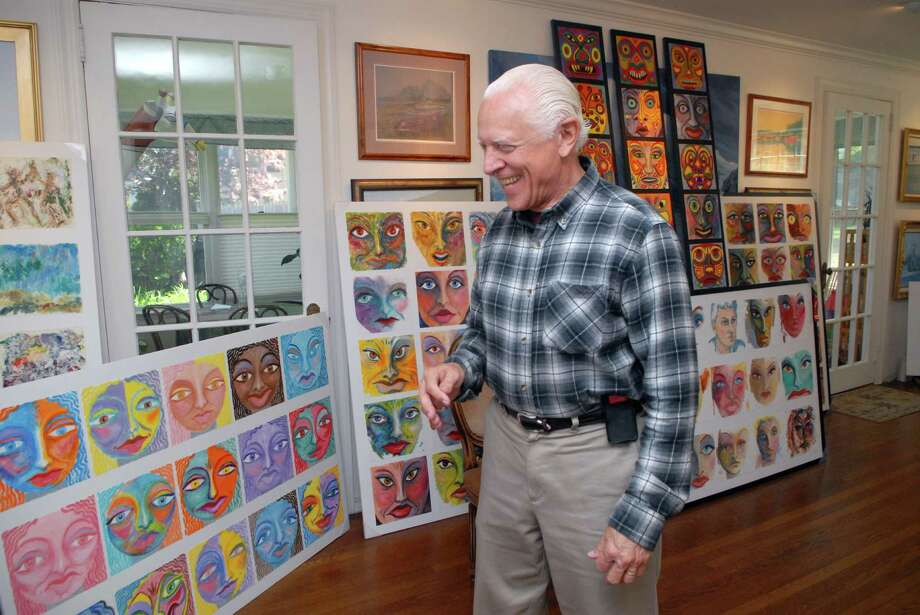 Ken Delmar at home with some of his artwork on Gurley Rd in Stamford, Conn. on Monday May 6, 2013. Photo: Dru Nadler / Stamford Advocate Freelance