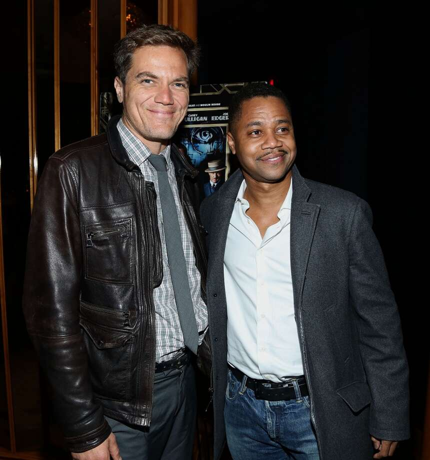 "NEW YORK, NY - MAY 05:  Michael Shannon (L) and Cuba Gooding Jr. attend the pre-Met Ball special screening of ""The Great Gatsby"" after-party at The Top of The Standard on May 5, 2013 in New York City.  (Photo by Rob Kim/Getty Images)"