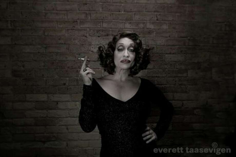"""Kourtney Paige Van Wales as Bette Davis. """"Practice, knowledge of your piece, costuming and more practice make the end result fruitful. You can't just throw a performance together and expect it to be anything but a hot mess."""" (Everett Taasevigen photo.)"""