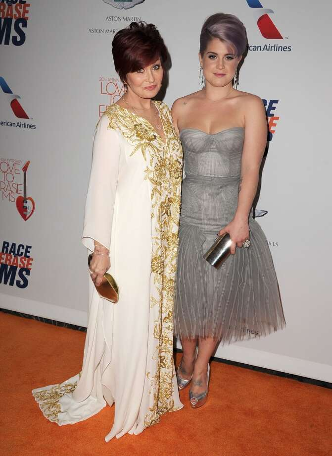 "CENTURY CITY, CA - MAY 03:  Sharon Osbourne and Kelly Osbourne arrives at the 20th Annual Race To Erase MS Gala ""Love To Erase MS"" at the Hyatt Regency Century Plaza on May 3, 2013 in Century City, California.  (Photo by Steve Granitz/WireImage)"