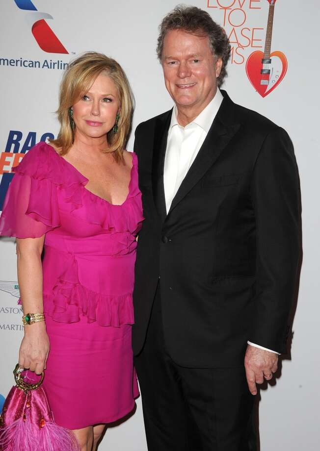 "CENTURY CITY, CA - MAY 03:  Kathy Hilton and Rick Hilton arrives at the 20th Annual Race To Erase MS Gala ""Love To Erase MS"" at the Hyatt Regency Century Plaza on May 3, 2013 in Century City, California.  (Photo by Steve Granitz/WireImage)"
