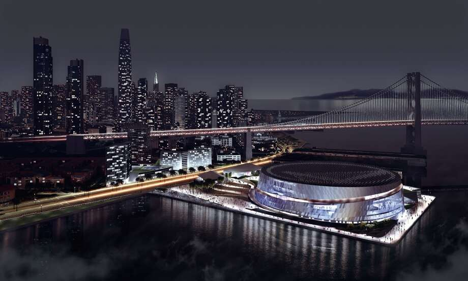 Latest rendition of the proposed Golden State Warriors arena at Piers 30-32. Courtesy the Golden State Warriors