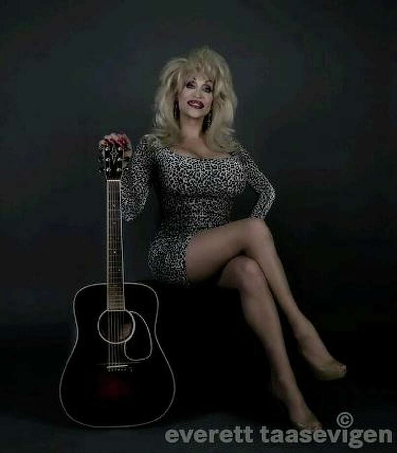 "Kourtney Paige Van Wales as Dolly Parton. She performed in An Evening At LaCage in Las Vegas, NV., where she impersonated Madonna, Dolly Parton and sometimes Cher, when the slot called for it. Dolly ""makes me feel like a million bucks!"" (Everett Taasevigen photo.)"