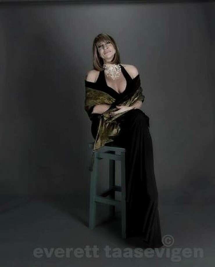 Kourtney Paige Van Wales as Barbara Streisand. She began her career at Robert's Lafitte in Galveston. (Everett Taasevigen photo.)