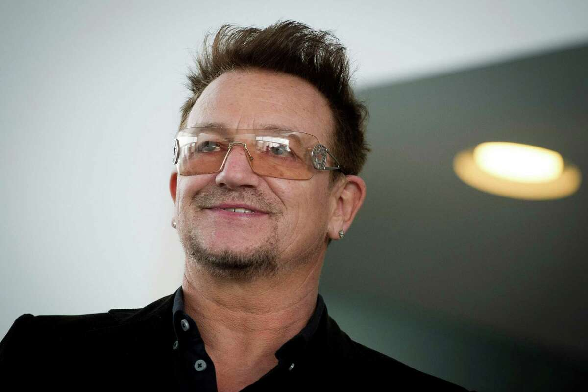 8. Bono, 53, lead singer of U2.