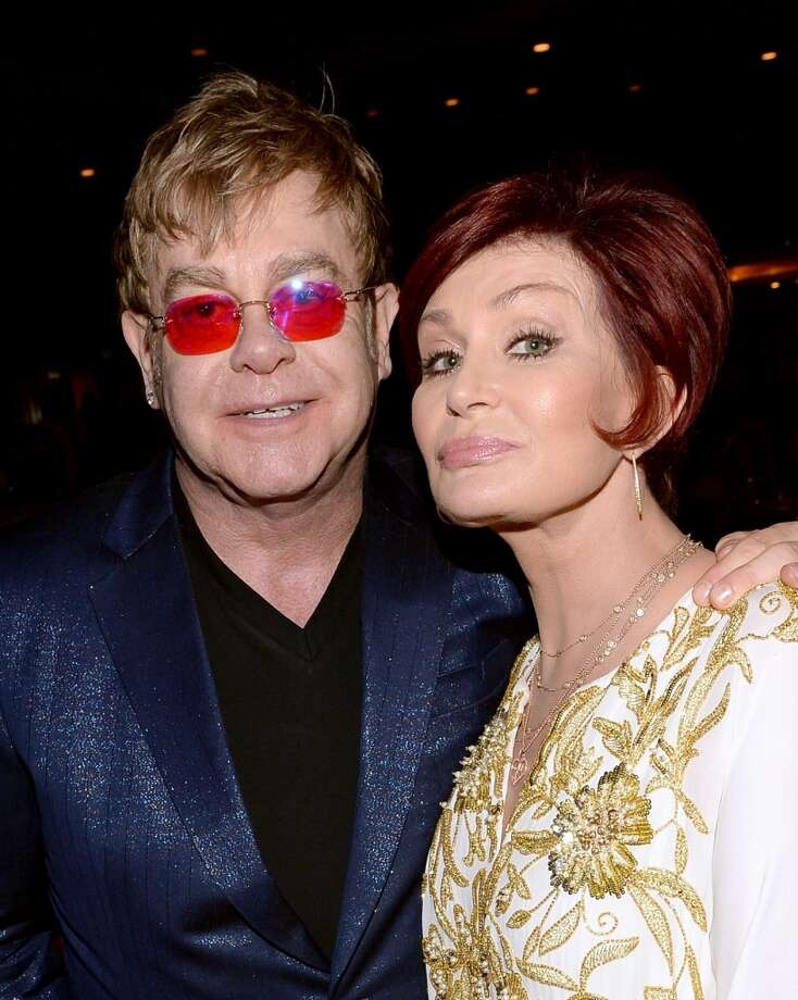 "Singer Elton John (L) and TV personality Sharon Osbourne attend the 20th Annual Race To Erase MS Gala ""Love To Erase MS"" at the Hyatt Regency Century Plaza on May 3, 2013 in Century City, California.  (Photo by Michael Buckner/Getty Images for Race To Erase MS)"