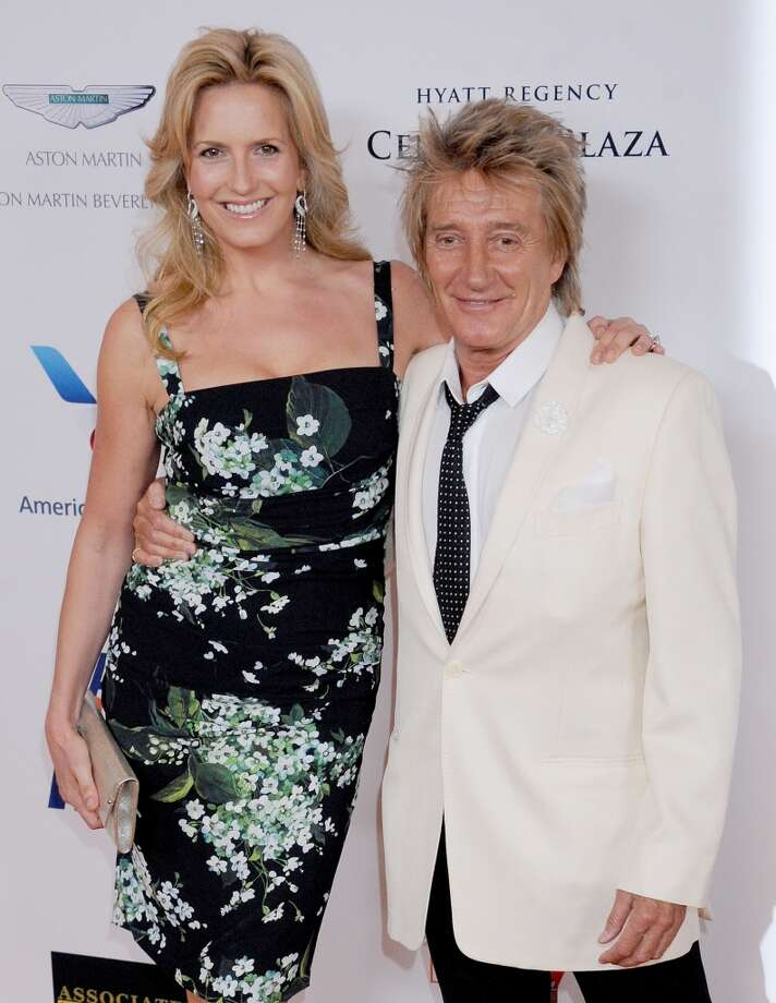 CENTURY CITY, CA - MAY 03:  Singer Rod Stewart and wife Penny Lancaster arrive at the 20th Annual Race To Erase MS Gala 'Love To Erase MS' at the Hyatt Regency Century Plaza on May 3, 2013 in Century City, California.  (Photo by Gregg DeGuire/WireImage)