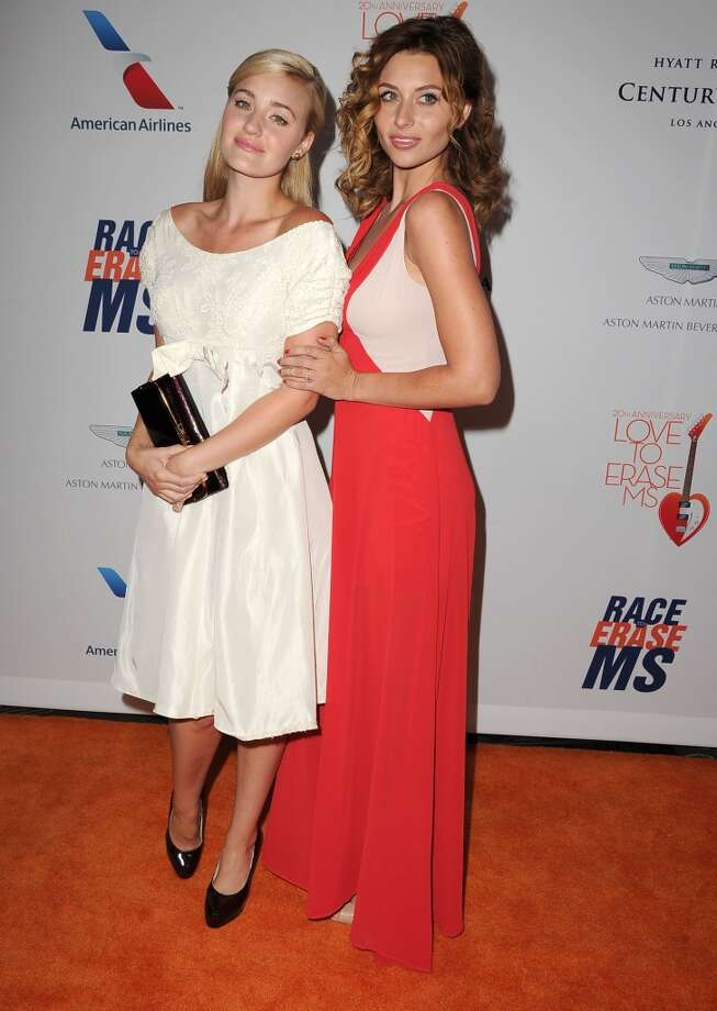 "CENTURY CITY, CA - MAY 03:  AJ Michalka and Aly Michalka  arrives at the 20th Annual Race To Erase MS Gala ""Love To Erase MS"" at the Hyatt Regency Century Plaza on May 3, 2013 in Century City, California.  (Photo by Steve Granitz/WireImage)"