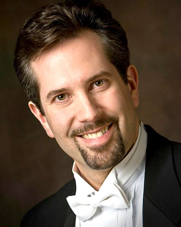 "Bass Damian Savarino was one of four soloists who joined the Greenwich Choral Society for its spring concert, ""Eternal Joy."" During his performance, Savarino created ""a brass-like resonance in his voice,"" says reviewer Jeffrey Johnson. Photo: Contributed Photo"