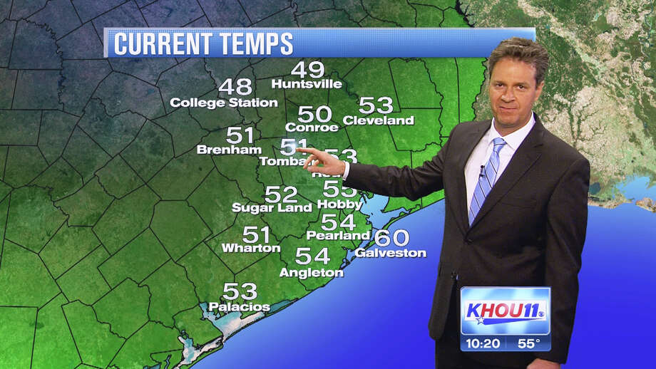 KHOU meteorologist David Paul got hiccups during a recent telecast. His forecast has hit YouTube and TV talk shows. Photo: --