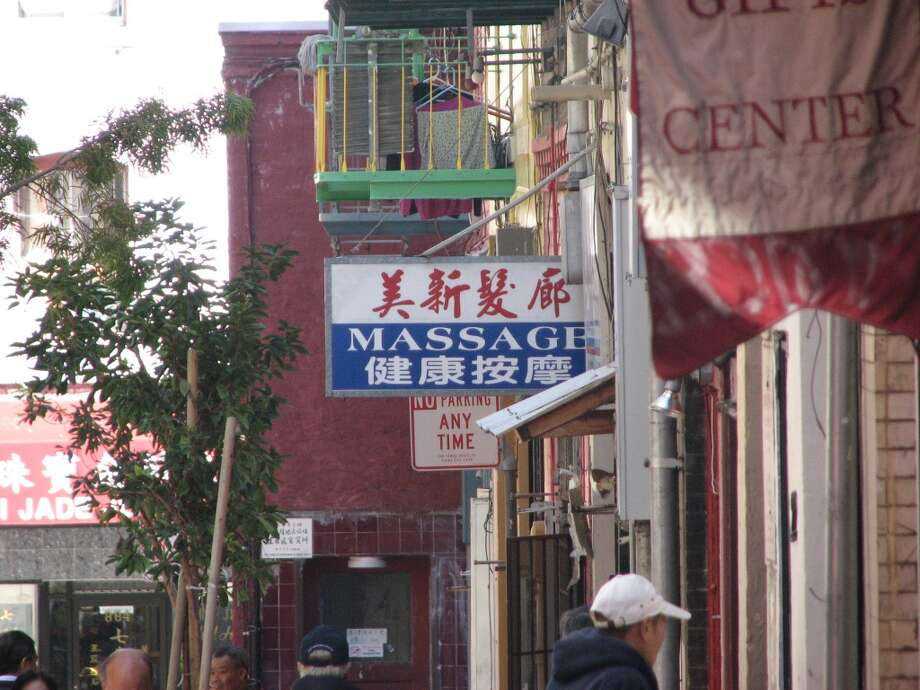 Spofford Alley, April 16, 2013;  No parking? No breathing room? Have a massage