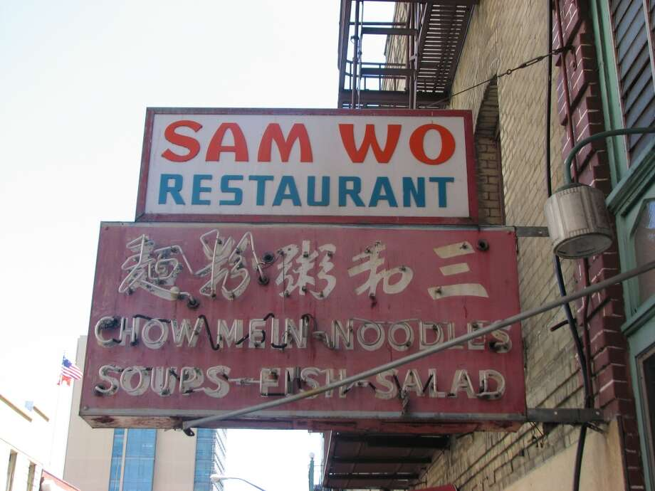 813 Washington St, April 16, 2013; Sam Wo, an institution closed despite its sign update