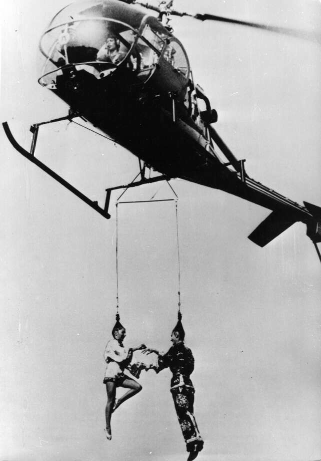 This one got hitched while hanging from a helicopter. Photo: Keystone, Getty Images / Hulton Archive