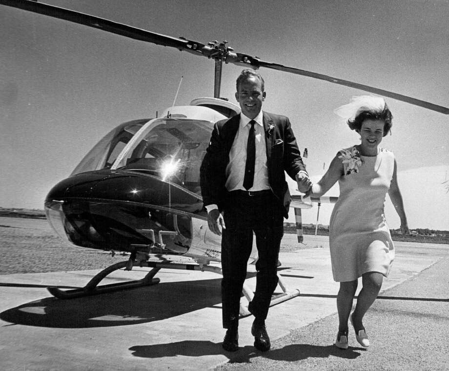 This couple got married in a helicopter in 1969. Photo: Duane Howell, POST_ARCHIVE / (C) 2010 The Denver Post, MediaNews Group