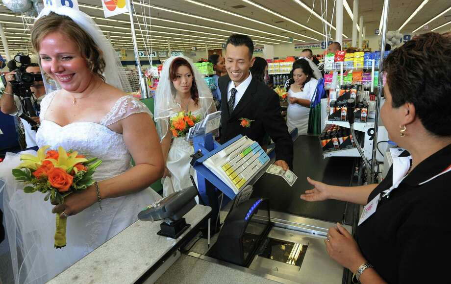 Don't want to go to much trouble or expense? The 99 Cent Store, in Los Angeles, offered, yes, 99-cent weddings in 2009. They paid at the register on their way out. Photo: AFP/Getty Images