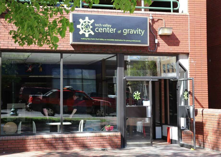 "Exterior of the new ""Makerspace"" Tech Valley Center of Gravity on Monday, May 6, 2013 in Troy, N.Y. (Lori Van Buren / Times Union) Photo: Lori Van Buren / 00022294A"