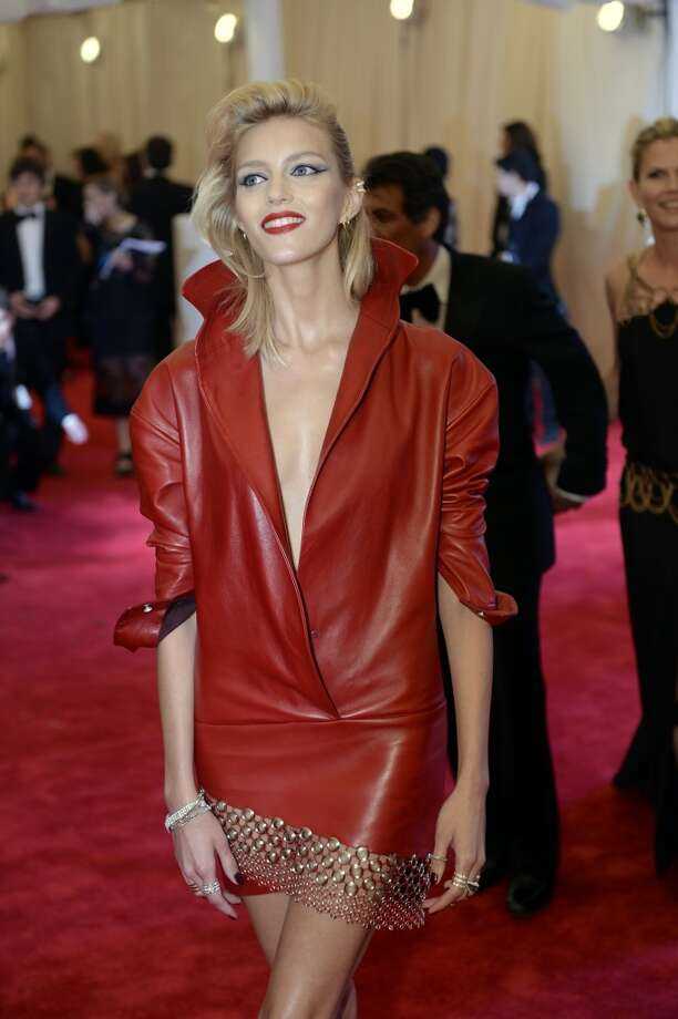 Model Anja Rubik arrives at the Metropolitan Museum of Art's Costume Institute Gala benefit in honor of the museum?s latest exhibit, ?Punk: Chaos to Couture? on May 6, 2013 in New York.    AFP PHOTO/Timothy A. CLARY        (Photo credit should read TIMOTHY A. CLARY/AFP/Getty Images)