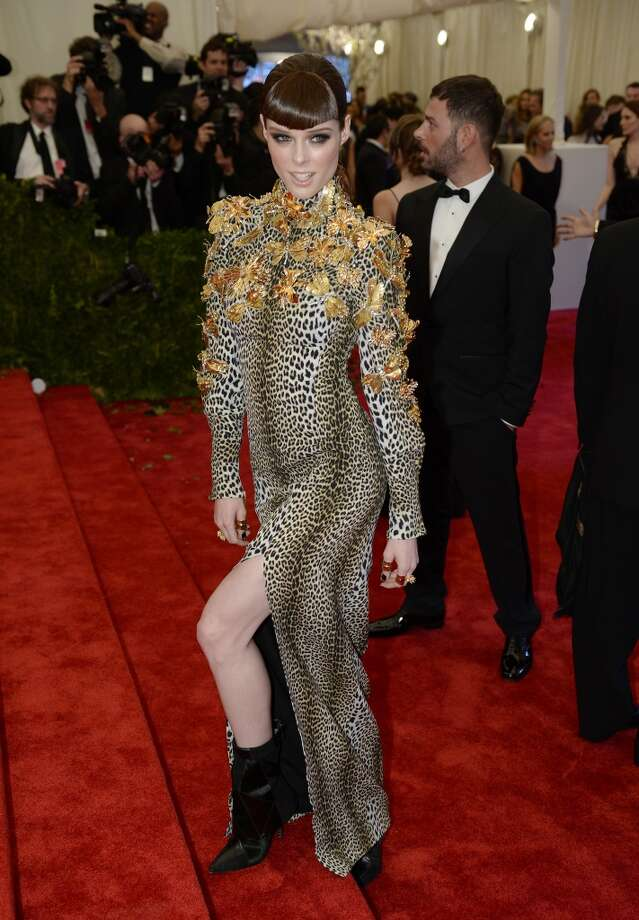 Model Coco Rocha arrives at the Metropolitan Museum of Art's Costume Institute Gala benefit in honor of the museum?s latest exhibit, ?Punk: Chaos to Couture.? May 6, 2013 in New York. AFP PHOTO/Timothy A. CLARY        (Photo credit should read TIMOTHY A. CLARY/AFP/Getty Images)