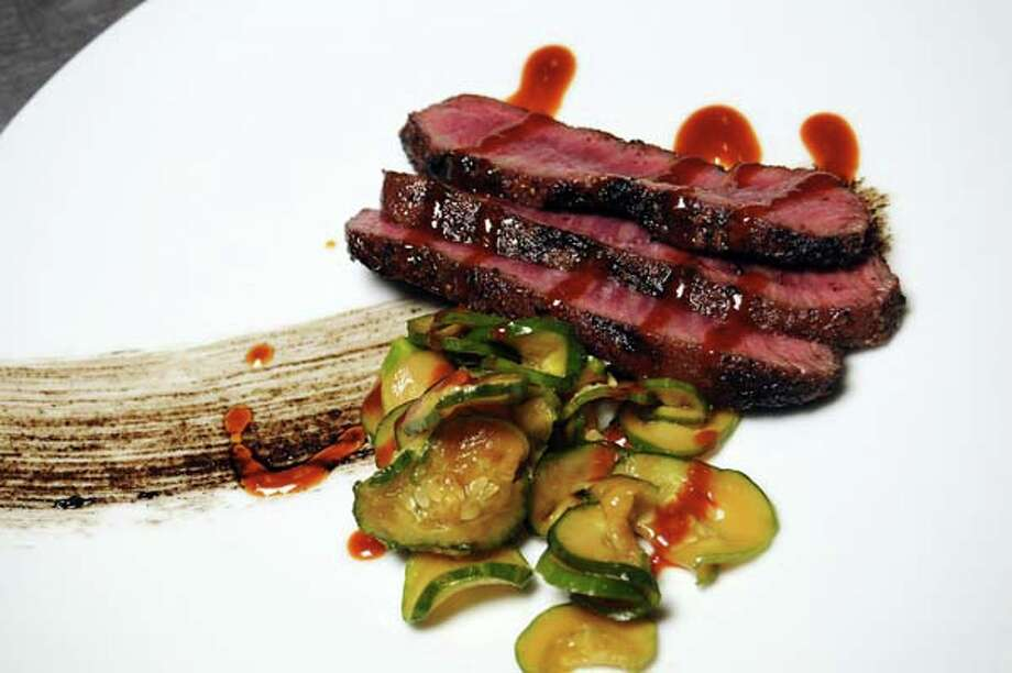 The grilled Wagyu flat iron at Underbelly Tuesday Sept. 11,2012.(Dave Rossman/For the Chronicle) Photo: Dave Rossman, For The Houston Chronicle / © 2012 Dave Rossman