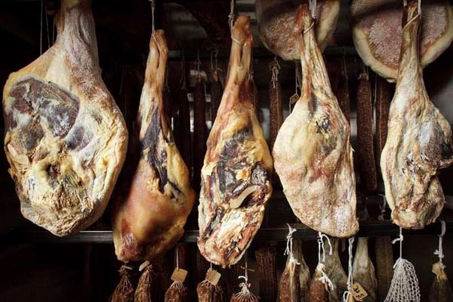 Inside the meat curing room of Chris Shepherd's restaurant Underbelly, Friday, Sept. 21, 2012, in Houston. ( Michael Paulsen / Houston Chronicle ) Photo: Michael Paulsen, Houston Chronicle / © 2012 Houston Chronicle