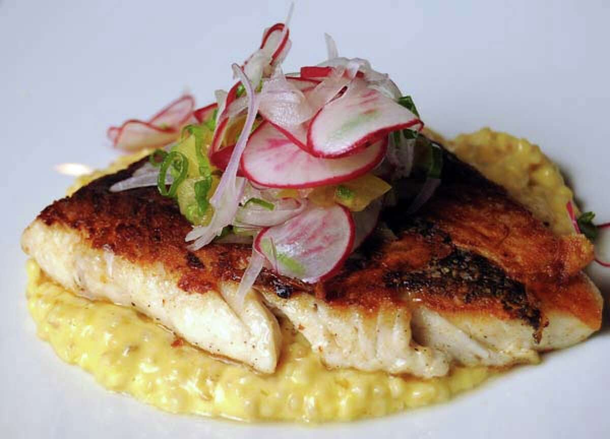 The seared day boat snapper at Underbelly