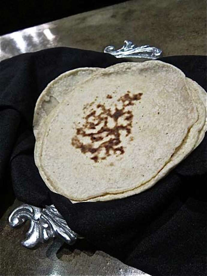 At Hugo's: tortillas are made inhouse Photo: Alison Cook, Houston Chronicle