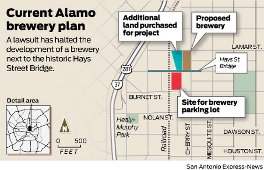 A lawsuit has halted the development of a brewery next to the historic Hays Street Bridge.  Photo: Harry Thomas