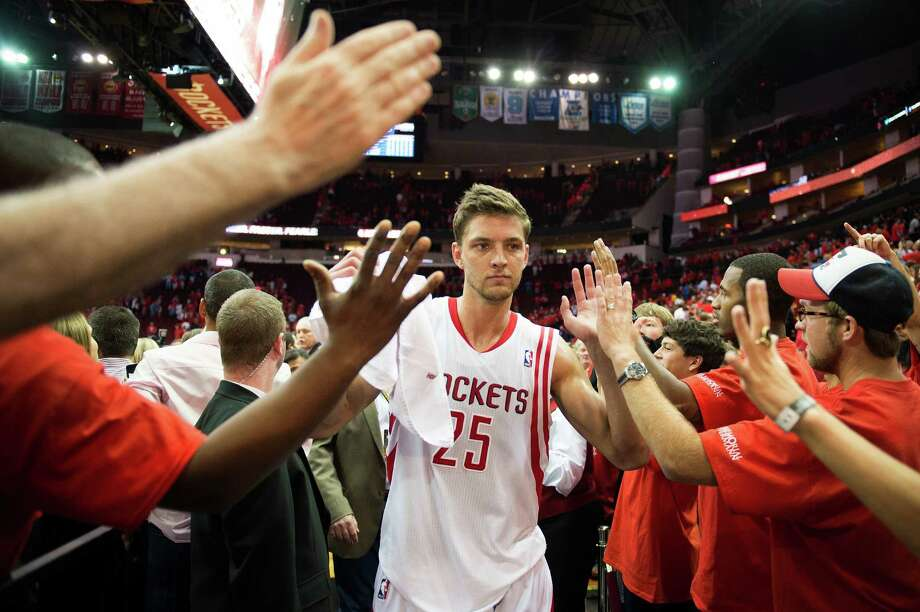 Chandler Parsons is determined to build on the momentum the Rockets created in the playoffs and use it next season. Photo: Smiley N. Pool, Staff / © 2013  Houston Chronicle