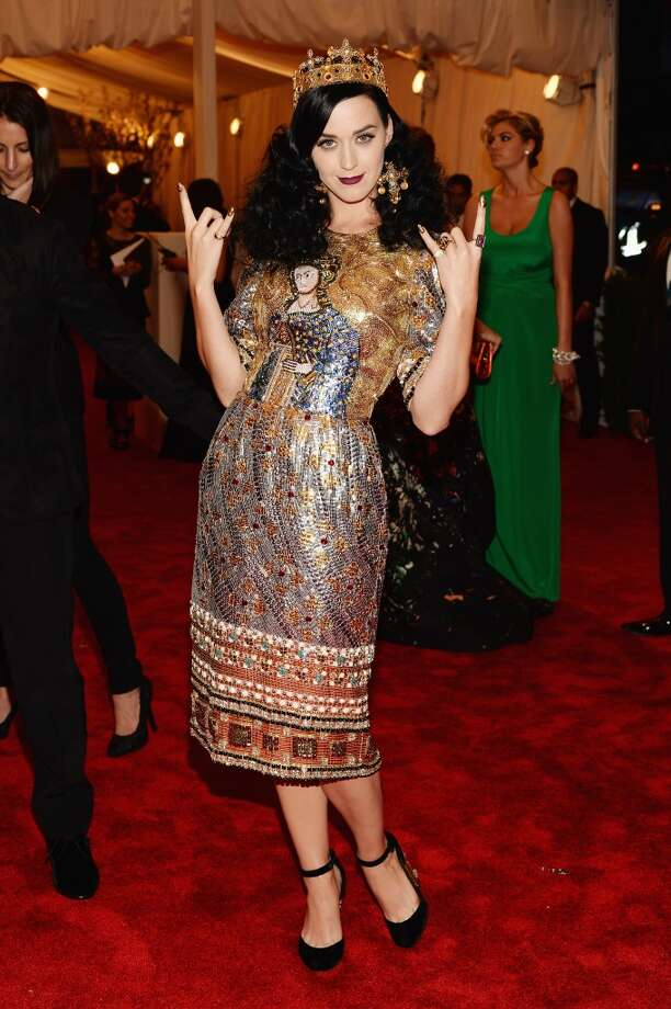 """NEW YORK, NY - MAY 06:  Katy Perry attends the Costume Institute Gala for the """"PUNK: Chaos to Couture"""" exhibition at the Metropolitan Museum of Art on May 6, 2013 in New York City.  (Photo by Dimitrios Kambouris/Getty Images)"""