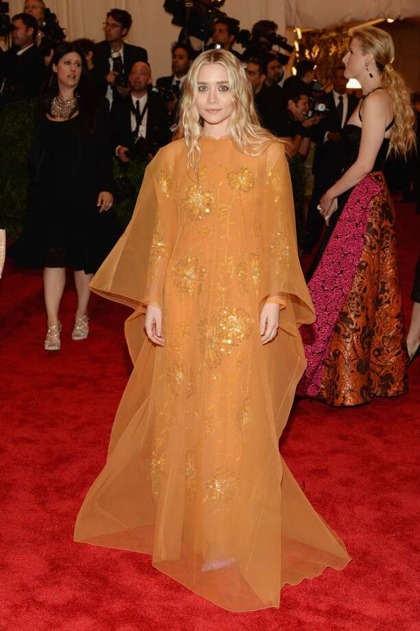 "NEW YORK, NY - MAY 06:  Ashley Olsen attends the Costume Institute Gala for the ""PUNK: Chaos to Couture"" exhibition at the Metropolitan Museum of Art on May 6, 2013 in New York City.  (Photo by Dimitrios Kambouris/Getty Images)"