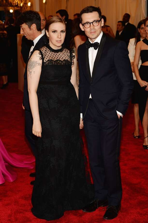 "NEW YORK, NY - MAY 06:  Lena Dunham and Erdem Moralioglu attend the Costume Institute Gala for the ""PUNK: Chaos to Couture"" exhibition at the Metropolitan Museum of Art on May 6, 2013 in New York City.  (Photo by Dimitrios Kambouris/Getty Images)"