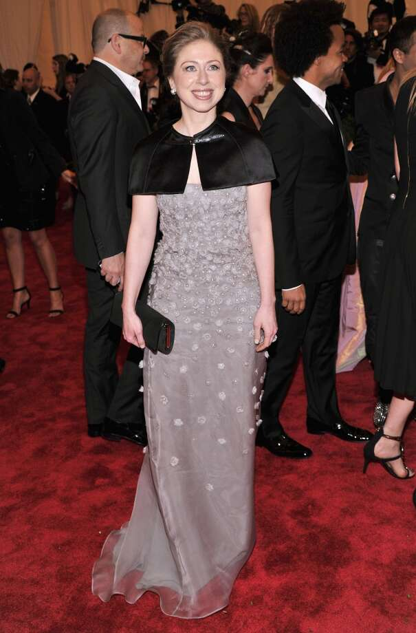 """NEW YORK, NY - MAY 06:  Chelsea Clinton attends the Costume Institute Gala for the """"PUNK: Chaos to Couture"""" exhibition at the Metropolitan Museum of Art on May 6, 2013 in New York City.  (Photo by Stephen Lovekin/FilmMagic)"""