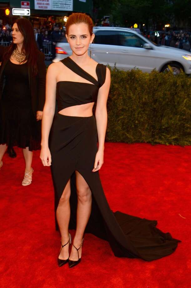 """NEW YORK, NY - MAY 06:  Emma Watson attends the Costume Institute Gala for the """"PUNK: Chaos to Couture"""" exhibition at the Metropolitan Museum of Art on May 6, 2013 in New York City.  (Photo by Larry Busacca/Getty Images)"""