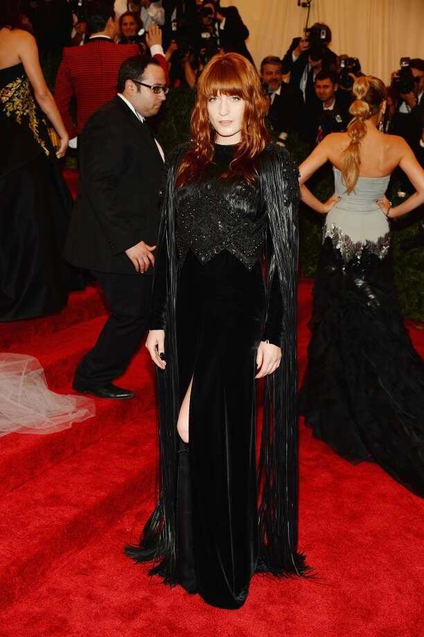 "NEW YORK, NY - MAY 06:  Florence Welch attends the Costume Institute Gala for the ""PUNK: Chaos to Couture"" exhibition at the Metropolitan Museum of Art on May 6, 2013 in New York City.  (Photo by Dimitrios Kambouris/Getty Images)"