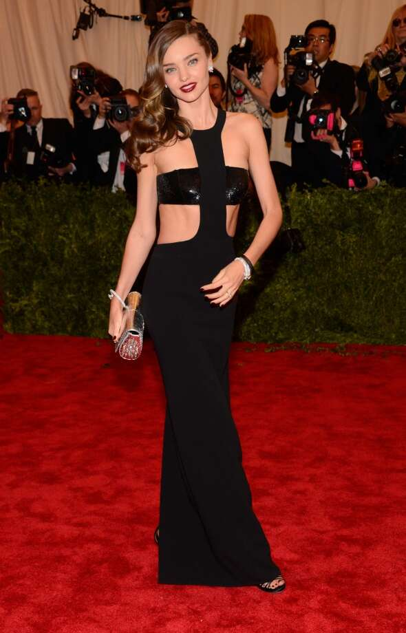 "NEW YORK, NY - MAY 06:  Miranda Kerr attends the Costume Institute Gala for the ""PUNK: Chaos to Couture"" exhibition at the Metropolitan Museum of Art on May 6, 2013 in New York City.  (Photo by Kevin Mazur/WireImage)"