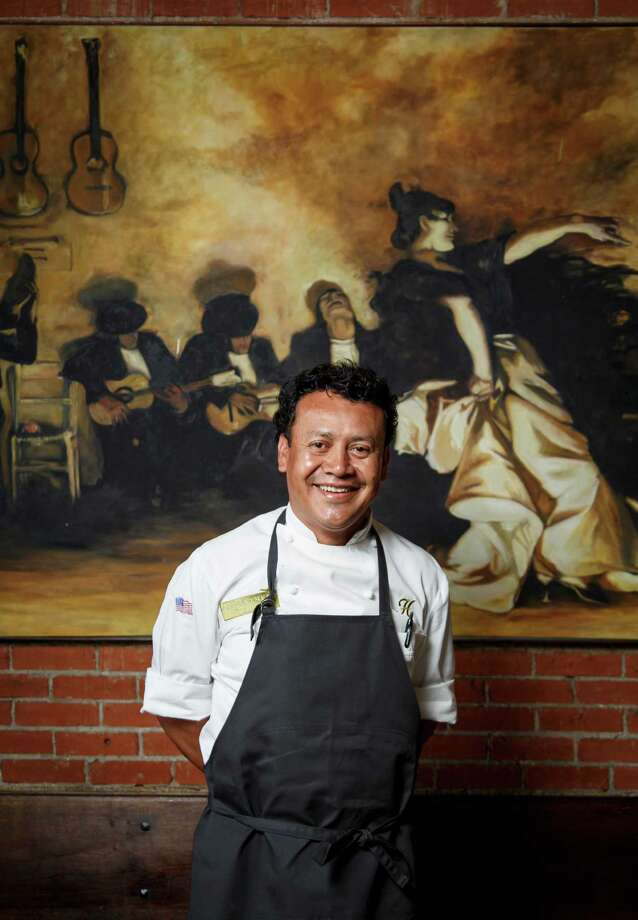Chef Hugo Ortega poses for a photo in his restaurant Hugo's Restaurant, Monday, April 15, 2013, in Houston.  Ortega is a nominee for best chef Southwest for the 2013 James Beard Foundation awards on May 6.  ( Michael Paulsen / Houston Chronicle ) Photo: Michael Paulsen, Staff / © 2013 Houston Chronicle