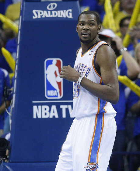 Kevin Durant has hit the go-ahead basket late in three games.