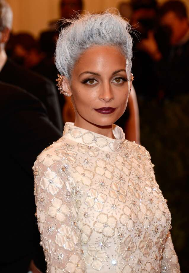 "Nicole Richie wearing custom Topshop attends the Costume Institute Gala for the ""PUNK: Chaos to Couture"" exhibition at the Metropolitan Museum of Art on May 6, 2013 in New York City.  (Photo by Kevin Mazur/WireImage)"